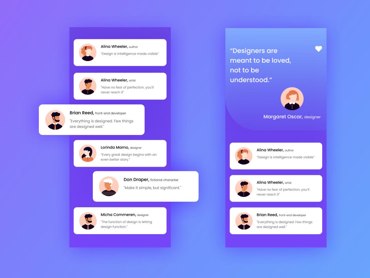 Creativity Flowing for every designers 🥰 illustration dribble clean minimal concept app ui kit app ui app screen quotes desiger design