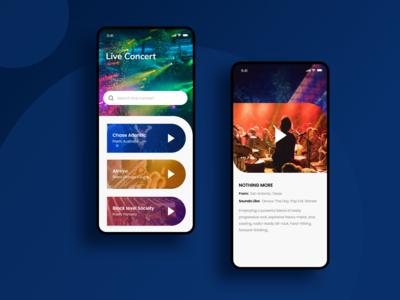 Live Concert App concept