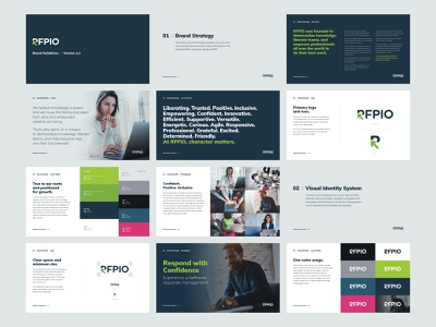 RFPIO Brand Guidelines software company creative direction art direction brand guidelines identity design branding