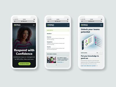 RFPIO Mobile Website Design rebrand branding art direction mobile design software website design mobile ui ui