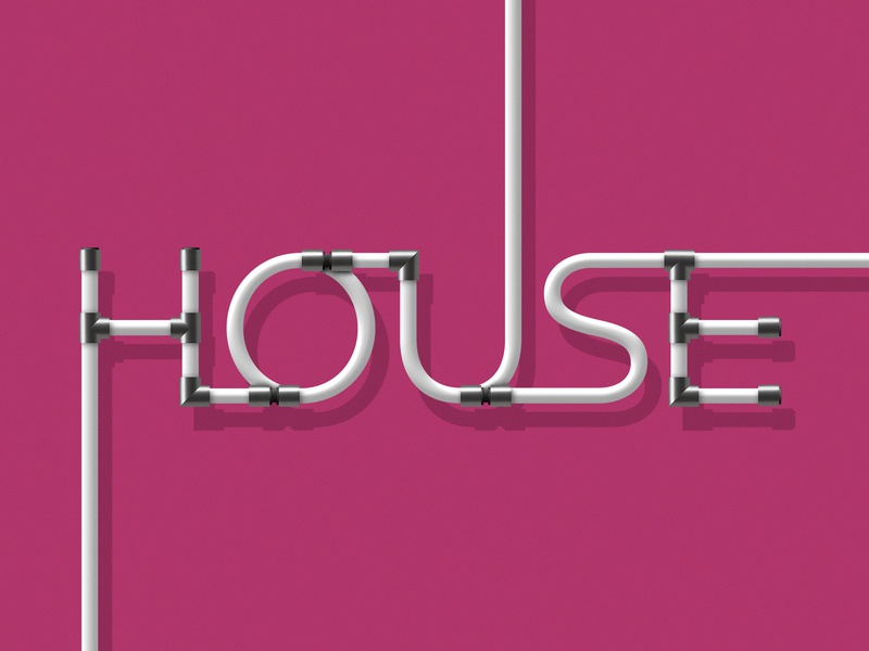 Rehau, On the House Campaign color plumbing house pipes typography campaign art digital art art direction