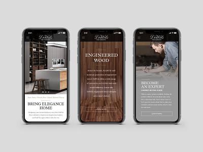 DeWils Cabinetry Website Design design website mobile design wood craftsmen cabinetry ux ui web design art direction