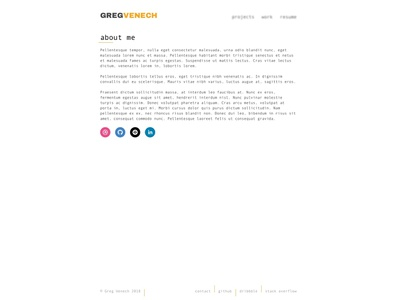 Portfolio Landing porfolio landing page web design