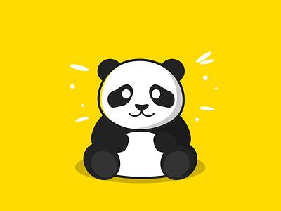 Baby Panda hug cuddle cuddly cute animal white black bear outdoor panda