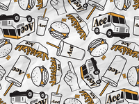 Ace Burger Illustrations
