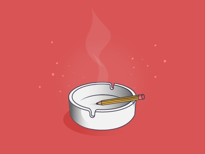 What's your story? ashtray pencil cigarette red adobe ui design digitalart artwork ai illustrator creative graphicdesign art sketch drawing illustration vector