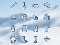 Snowbicons - Free Snowboard Shop Icons
