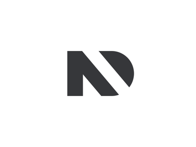 Nader Design blackandwhite negative space logo negative space geometric basic simple logo charcoal black white agency design logo