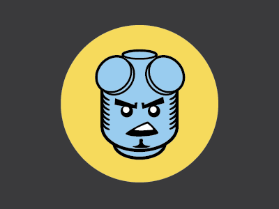 Domo Hack Night Beast Mode icon hell boy lego hack-a-thon sticker illustration