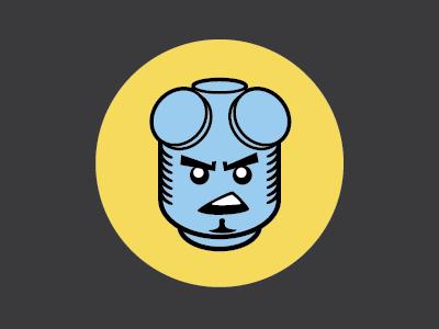 Domo Hack Night Beast Mode icon hell boy lego hack-a-thon sticker illustration