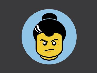 Domo Hack Night Sumo linework character icon sumo lego hack-a-thon sticker illustration