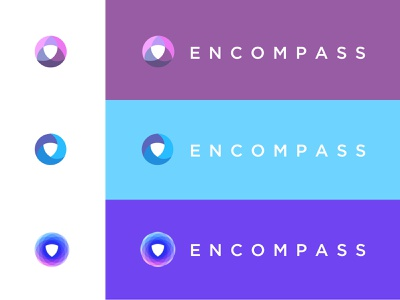 Encompass Logo Process brandidentity story overlap simple flat design logo branding icon illustration