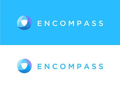 Encompass colors circle wave mark design vector illustration branding logo icon
