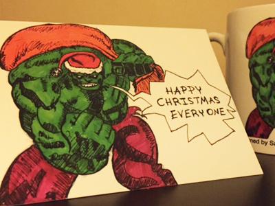 Christmas card sketch for Nephew card christmas sketch