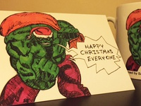 Christmas card sketch for Nephew