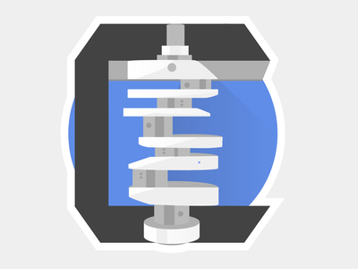 Crankshaft logo for V8 engine sketch design logo illustration