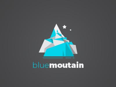 Blue mountain logo vector work vector graphics adobe illustrator branding logo design