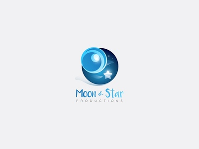 Moon&Star Productions logo vector work vector graphics adobe illustrator branding logo design