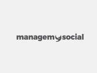 managemysocial Logo design vector work vector graphics adobe illustrator branding logo design