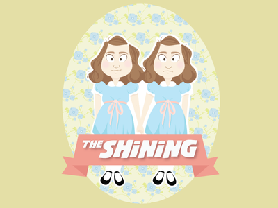 The Twins illustration vector girl horror twins the shining
