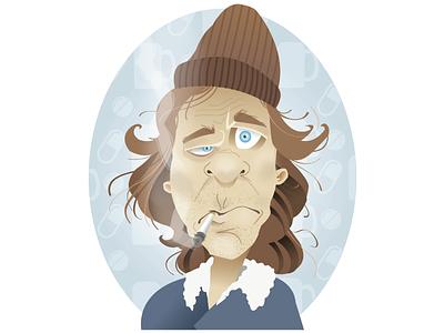 Frank Gallagher portrait illustration vector smoking showtime shameless