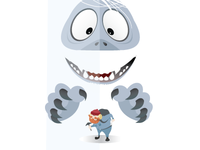 Bumble's Revenge vector illustration abominable snowman movies classics christmas bumble