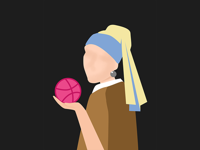 Girl With A Pearl Earring hello dribbble girl with a pearl earring