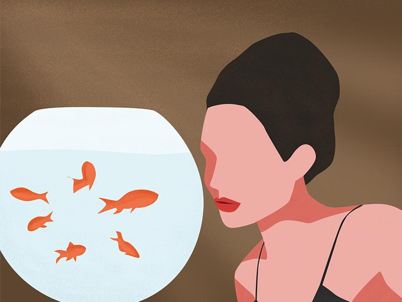 Goldfish girl goldfish ai sketch