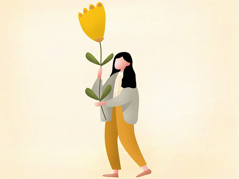Yellow Flower yellow flower girl ai sketch