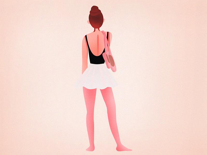 Ballerina girl ai sketch ballerina