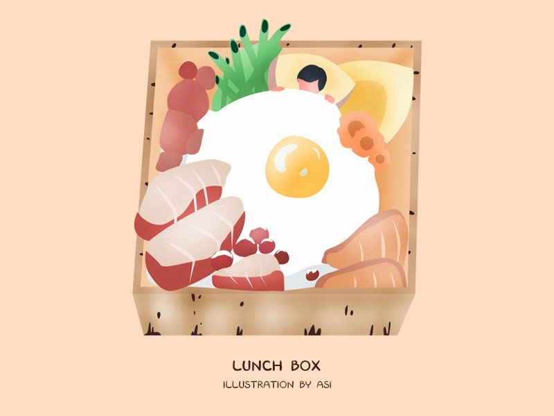 Lunch Box lunch box ai sketch