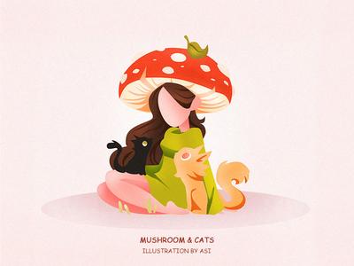 Mushroom & Cats