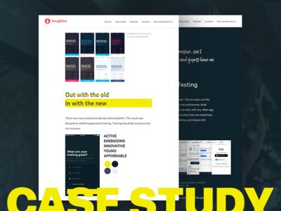 SplitFit Case Study  web design fitness mobile ios case study design
