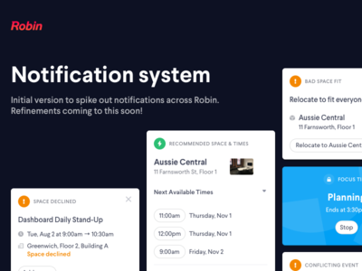 Notifications design system system notifications cards