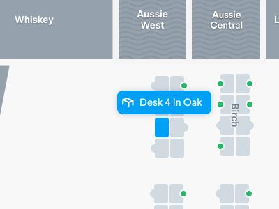 Selected Desk on Floor plan floor plans mapbox map ui maps indoor maps