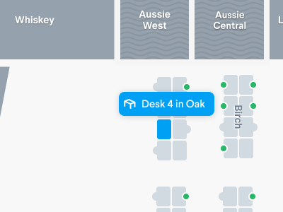 Selected Desk on Floor plan floor plans mapbox map ui maps indoor maps