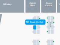 Selected Desk on Floor plan
