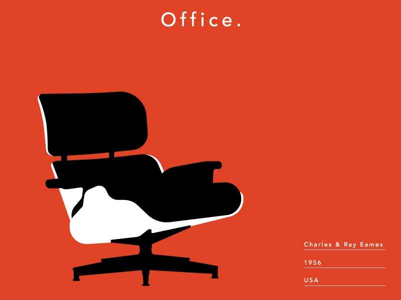 Eames Lounge Chair Poster Adaptation By Luc Schwab On