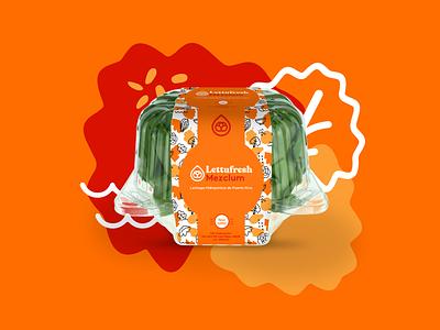 Lettufresh pattern salad veggies lettuce logo puerto rico dribbblers illustration packaging brandidentity branding