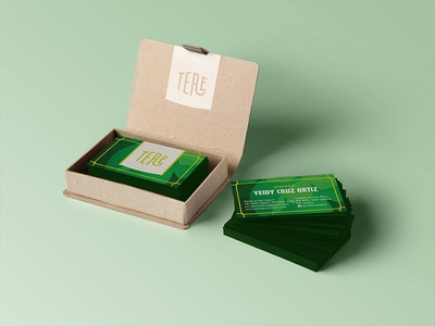 B cards for Productos Tere