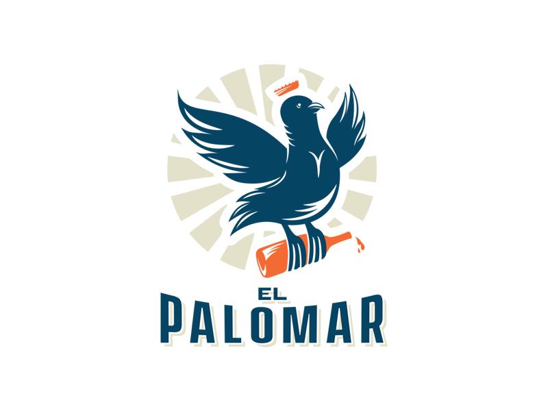 El Palomar mixologist bar illustration puerto rico dribbblers design business brandidentity ilustration welovedesign puertorico logotype graphicdesign logo branding