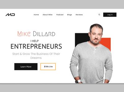 Mike Dillard sales funnel landing page design funnel landing page uiux design website clean