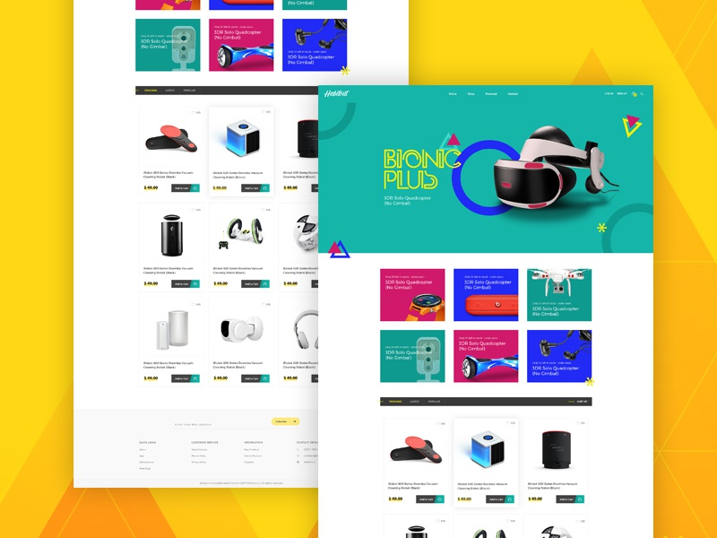 Habit Out Home page psd bootstrap minimal woo-commerce website clean ecommerce