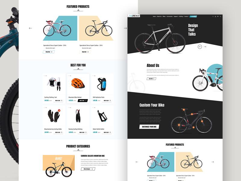 Hibeam cycling sports website layout racing minimal ecommerce sport blackwhite mountain fitness sports bike biking cycling cycle