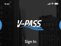 Login and Sign up of Vpass by agile design on Dribbble