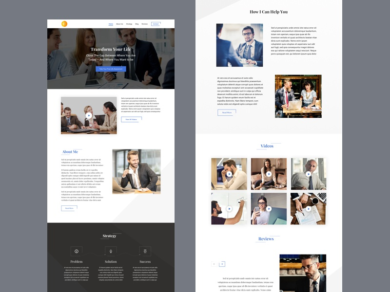Franchise business corporate website page landing