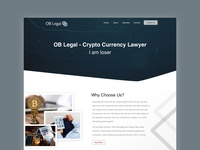 Crypto Currency Lawyer Landing Page
