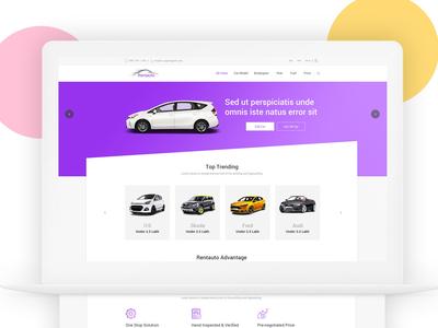 Rent a car website layout