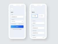 Login  Screen and Registration Screen
