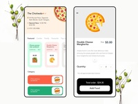Online food app concept